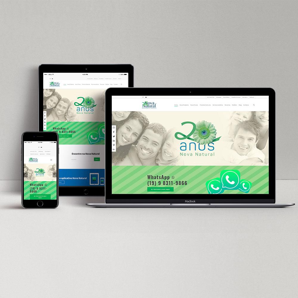 Nova Natural – Desenvolvimento Web